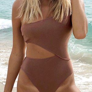 Women's Candy Rain One Shoulder One-Piece Swimsuit